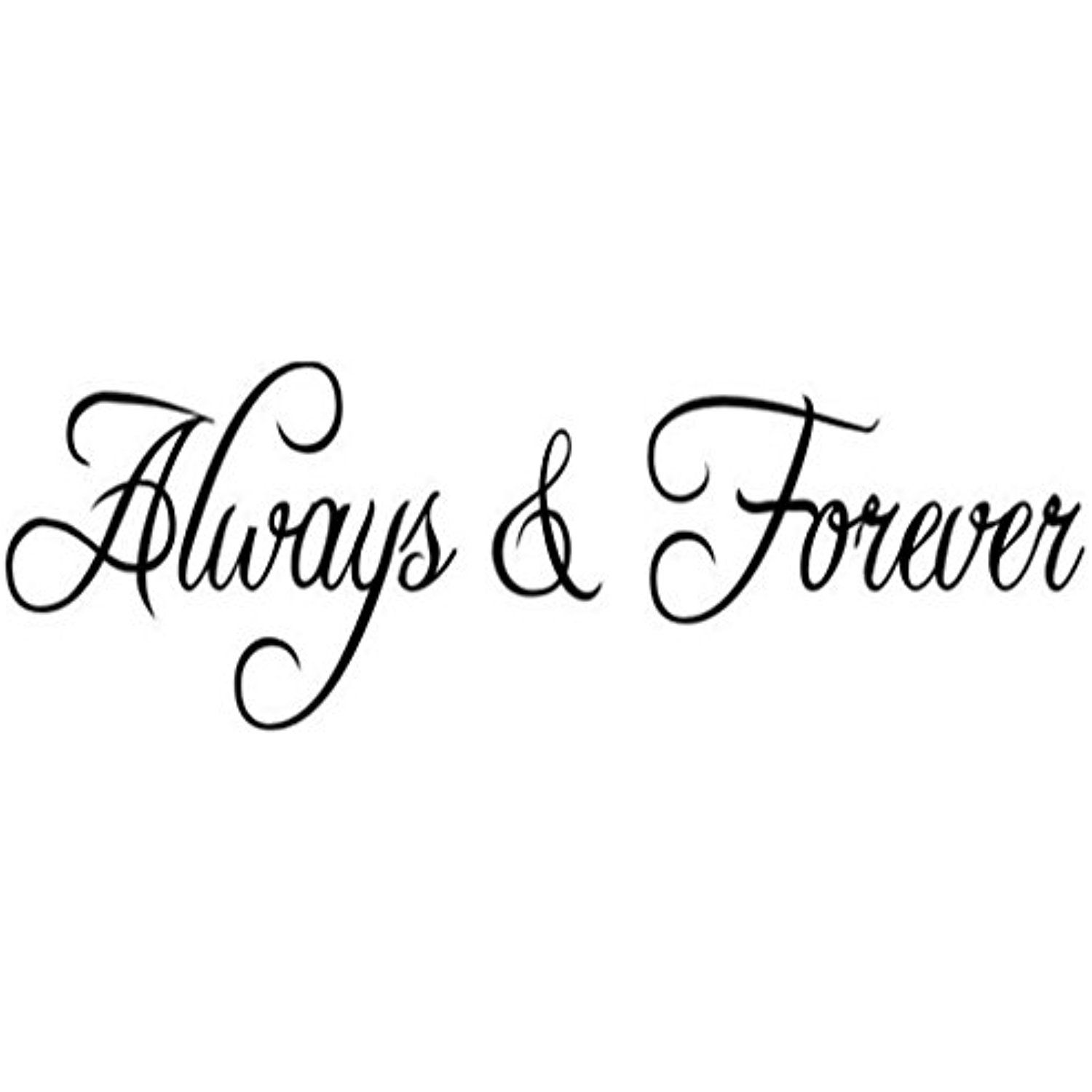Always and Forever  Bedroom Quote Decors Wall Saying Decals Quote for Home Wall Stickers.    sc 1 st  Pinterest & Always and Forever