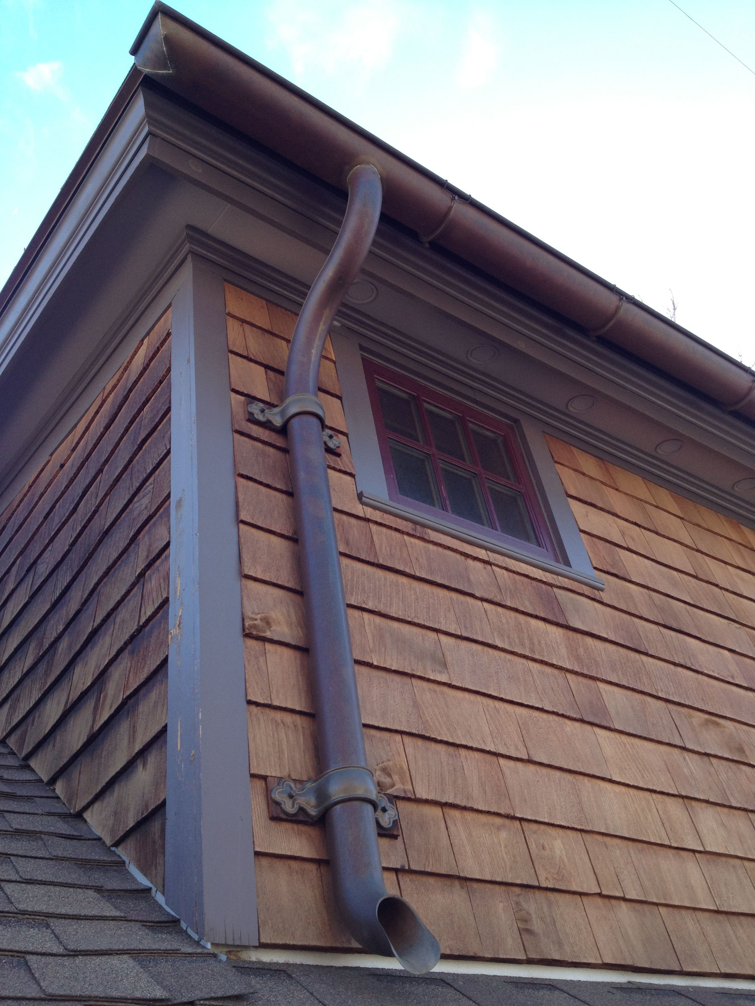 Royal Brown Half Round Gutter Google Search Siding