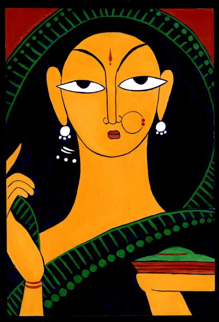 Jamini Roy Painting Poster Colours All Handmade