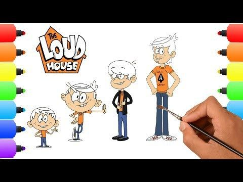 The Loud House Growing Up Draw And Coloring Pages Lovely Animial