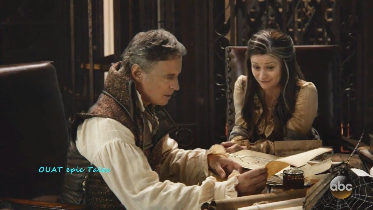 Once Upon A Time 7x04 Rumple & Belle in the Library Season