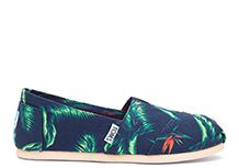 b17018a63ab Navy Canvas Birds of Paradise Women s Classics