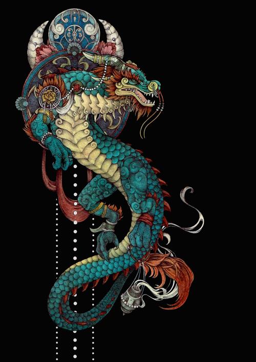 Dragon In The Mist Of Panderia World Of Warcraft Dragon Drawing Dragon Art Dragon Tattoo