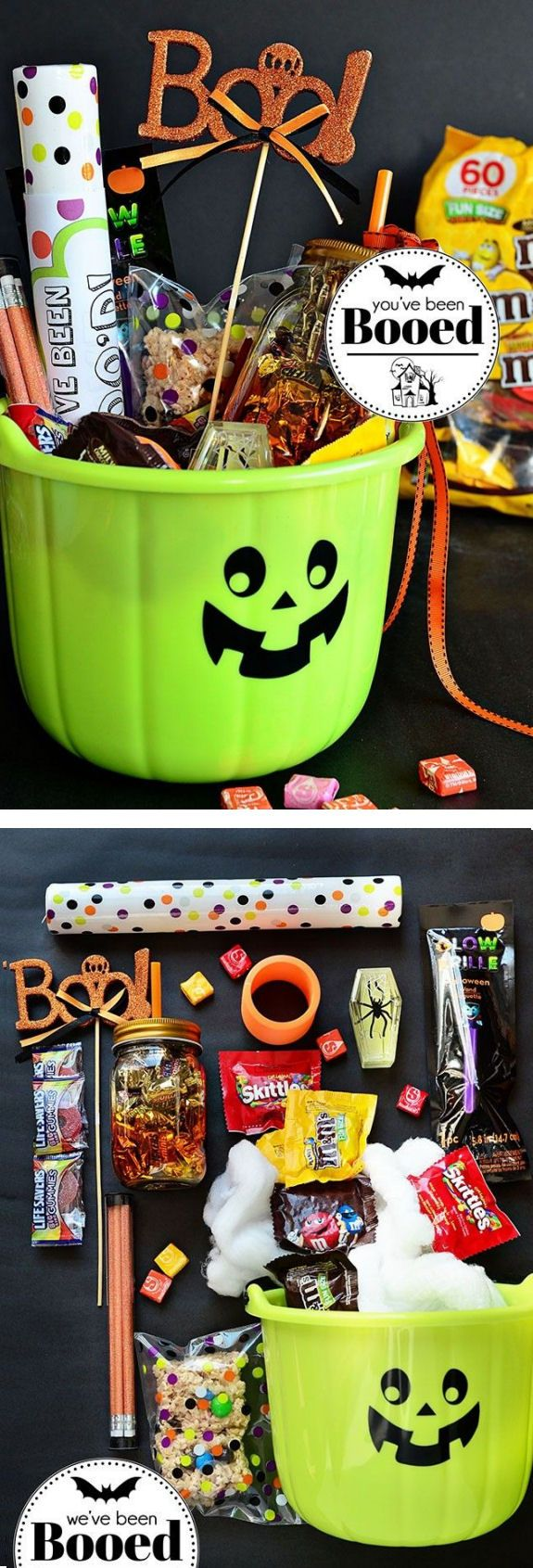 Love This Idea ... cUte #DIY Halloween Gift Basket #BooitForward ...