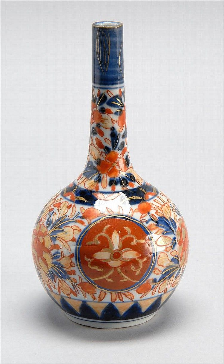 Imari porcelain bottle vase with ovoid body and cylindrical neck imari porcelain bottle vase with ovoid body and cylindrical neck all decorated in floral design reviewsmspy
