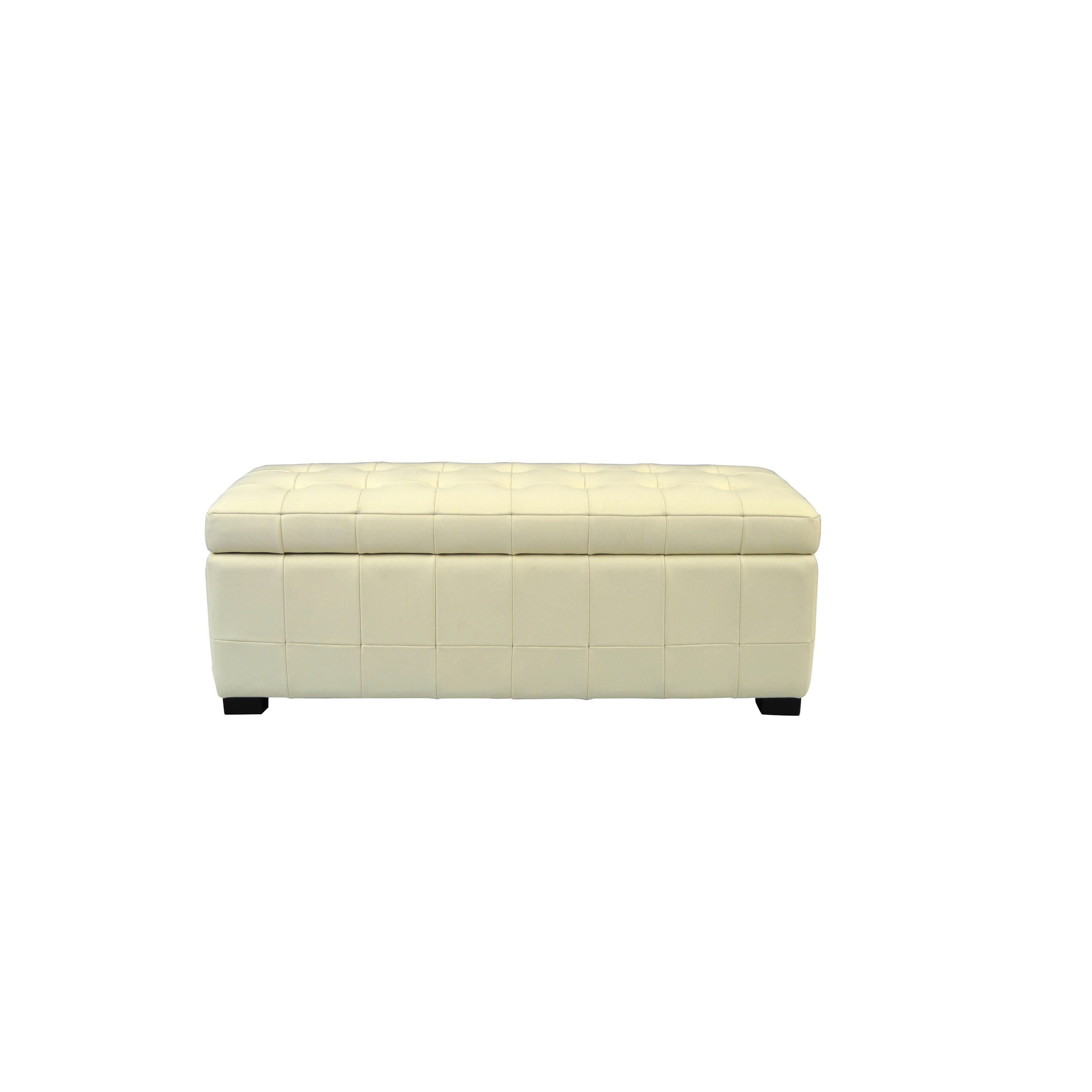 Safavieh Manhattan Off White (Beige) Small Storage Bench (Iron)