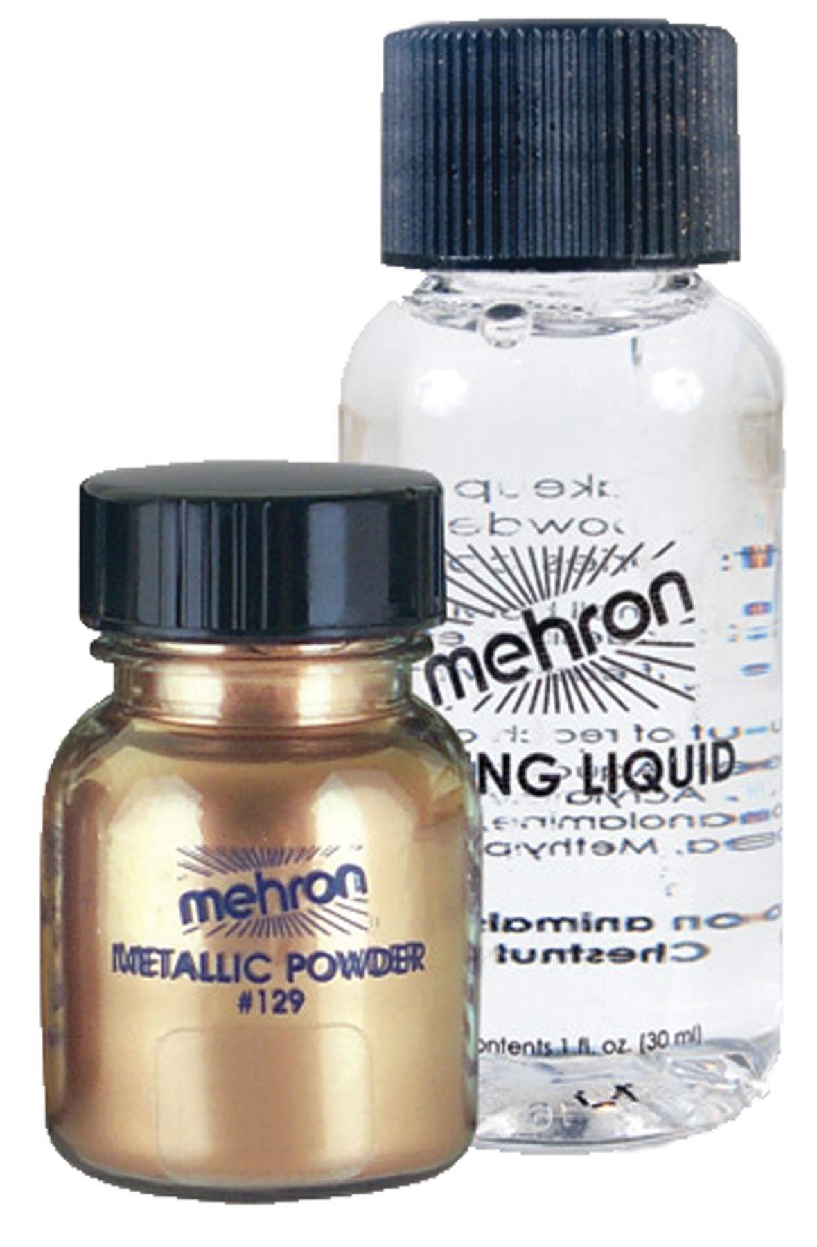 Metallic Gold Liquid Powder Metallic makeup, Liquid