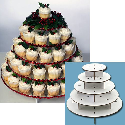 Are You Planning A Party Or A Small Celebration Serve Cupcakes With This Ready To Assemble Stand Made Of Sturdy Cardboard Doublewall Corrugated Covered In W Dengan Gambar