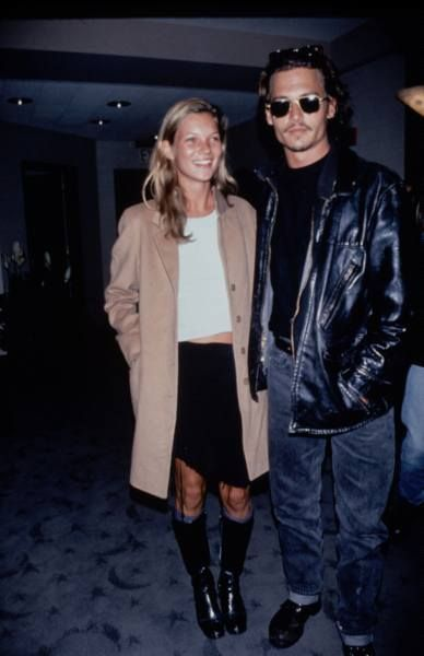 Young Kate Moss and Johnny Depp early 1990s | Kate moss
