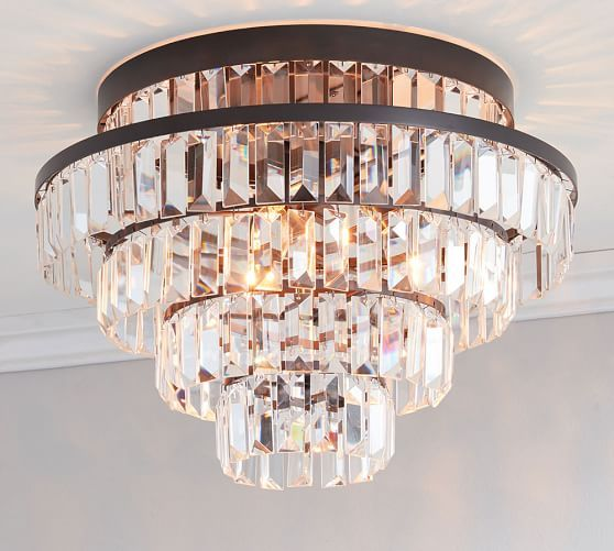 Pendant lights being bohemian decorating items gemma crystal tiered flushmount pottery barn