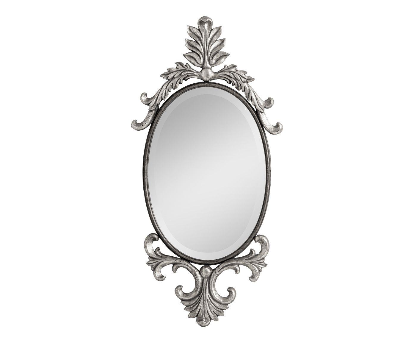 Miroir métal et verre, argenté