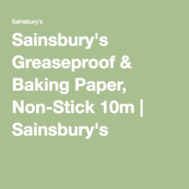 Sainsbury S Greaseproof Baking Paper Non Stick 10m