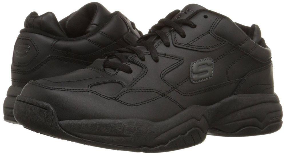 Skechers felix keystone safety slip resistant mens 8 black