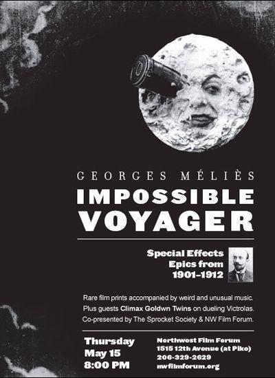 Hugo Georges Melies Impossible Voyager Poster George Melies Film Prints Film
