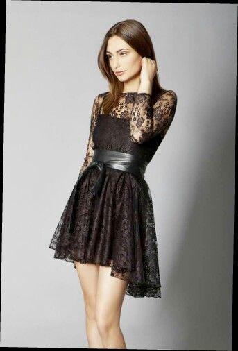 Vestido negro con transparencia   moda   Pinterest