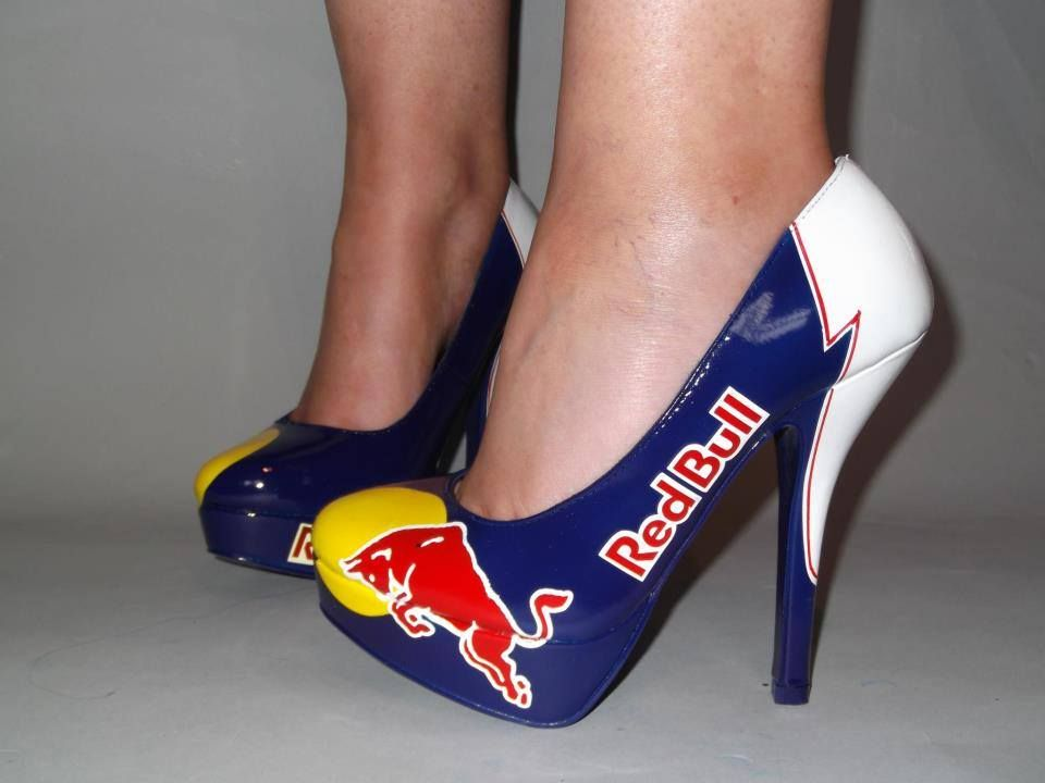 Custom Airbrushed High Heel Shoes