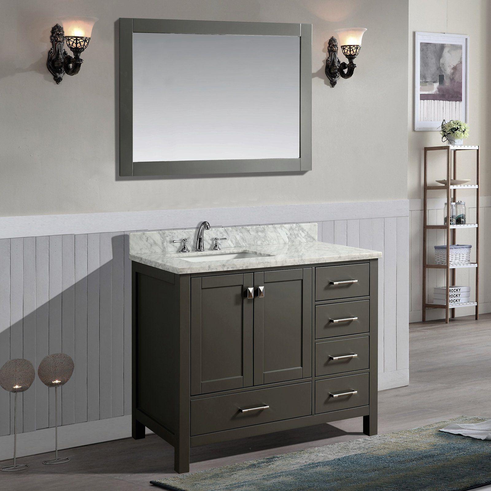 Ari Kitchen and Bath Bella 42 in. Single Bathroom Vanity Set with ...