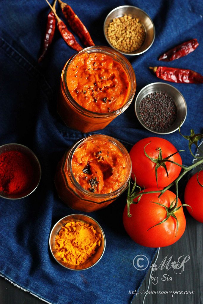 Instant andhra tomato pickle recipe pickling indian curry and instant andhra tomato pickle recipe forumfinder Choice Image