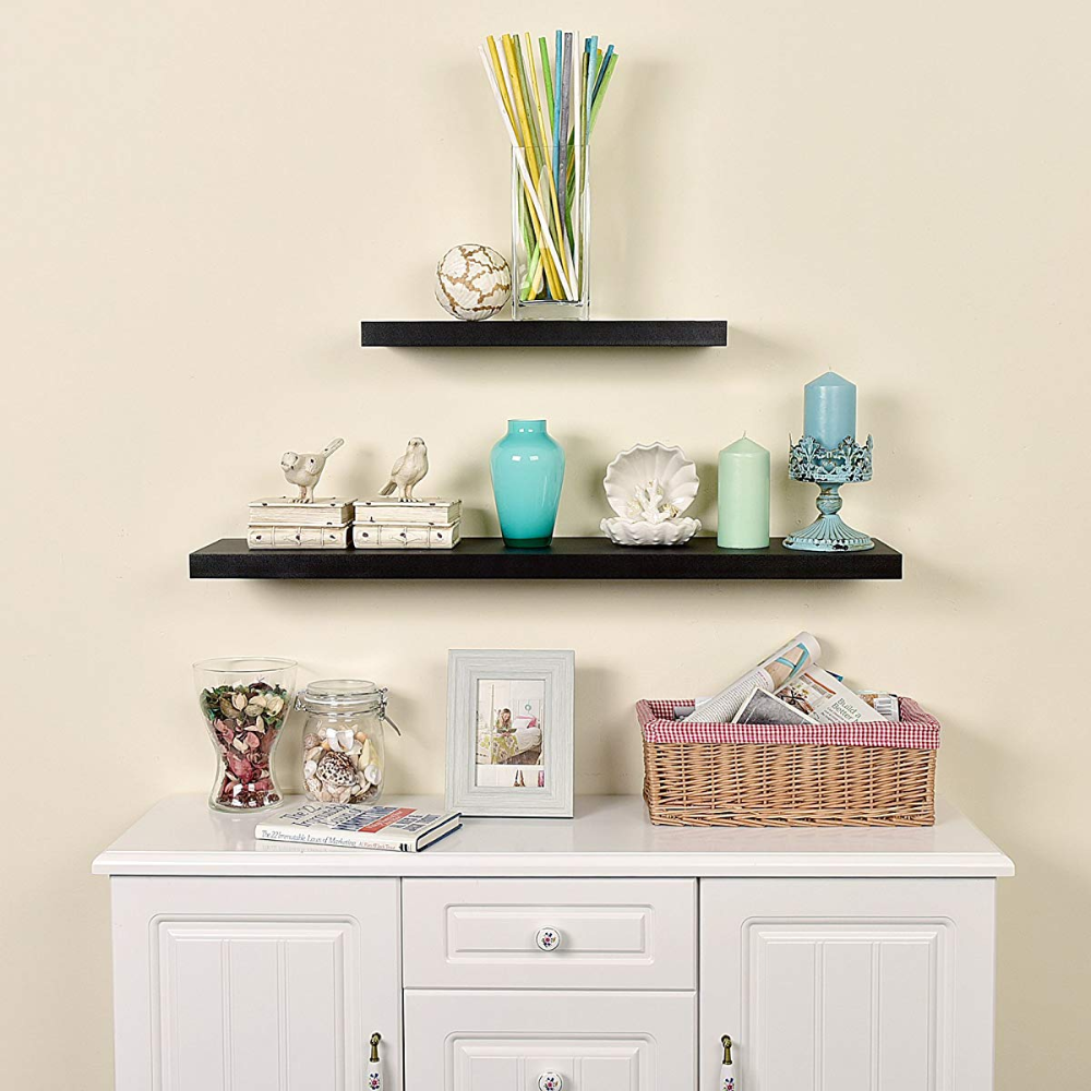 Floating Wall Shelf Ledge Shelves 36 Inch Black In 2020 Floating Wall Shelves