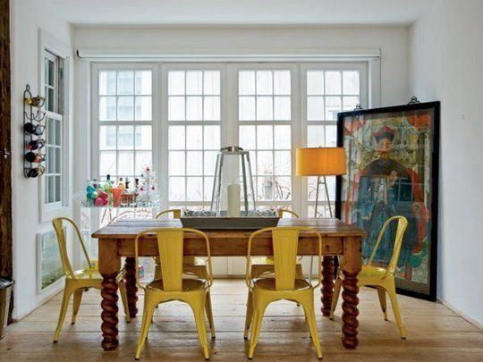 Look We Love Traditional Table Modern Chairs Eclectic Dining