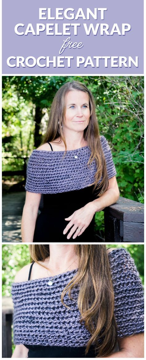 Elegant Capelet Wrap Crochet Pattern | Crochet wrap pattern, Capelet ...