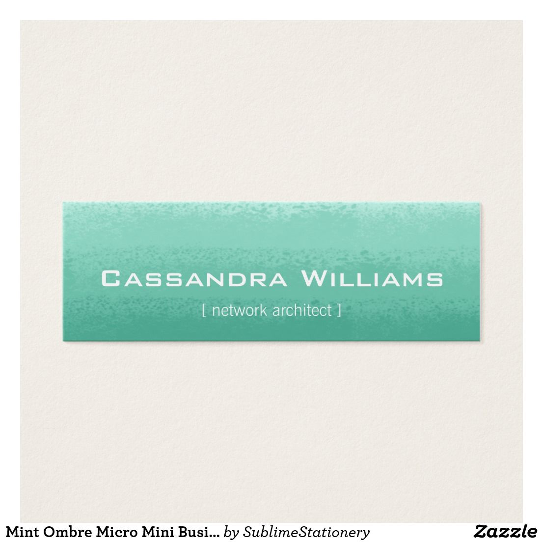 Mint ombre micro mini business cards business cards business and mint ombre micro mini business cards colourmoves