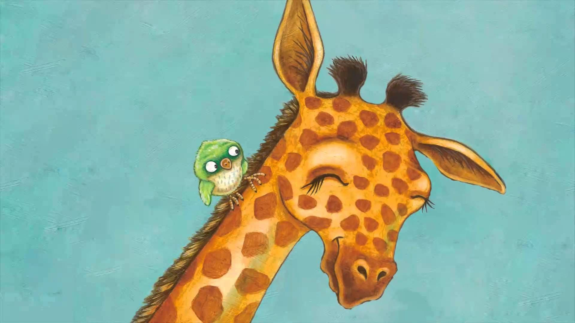 Giraffe Meets Bird Book Trailer | Rebecca Bender | Baby animals learn the ups and downs of friendship