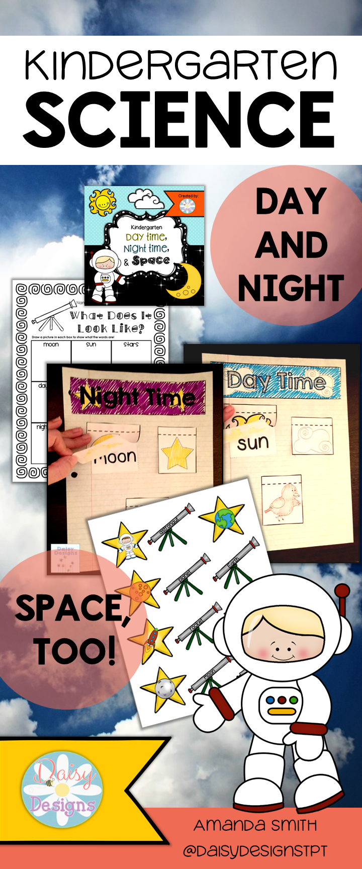 Day And Night Kindergarten Day Time Night Time And