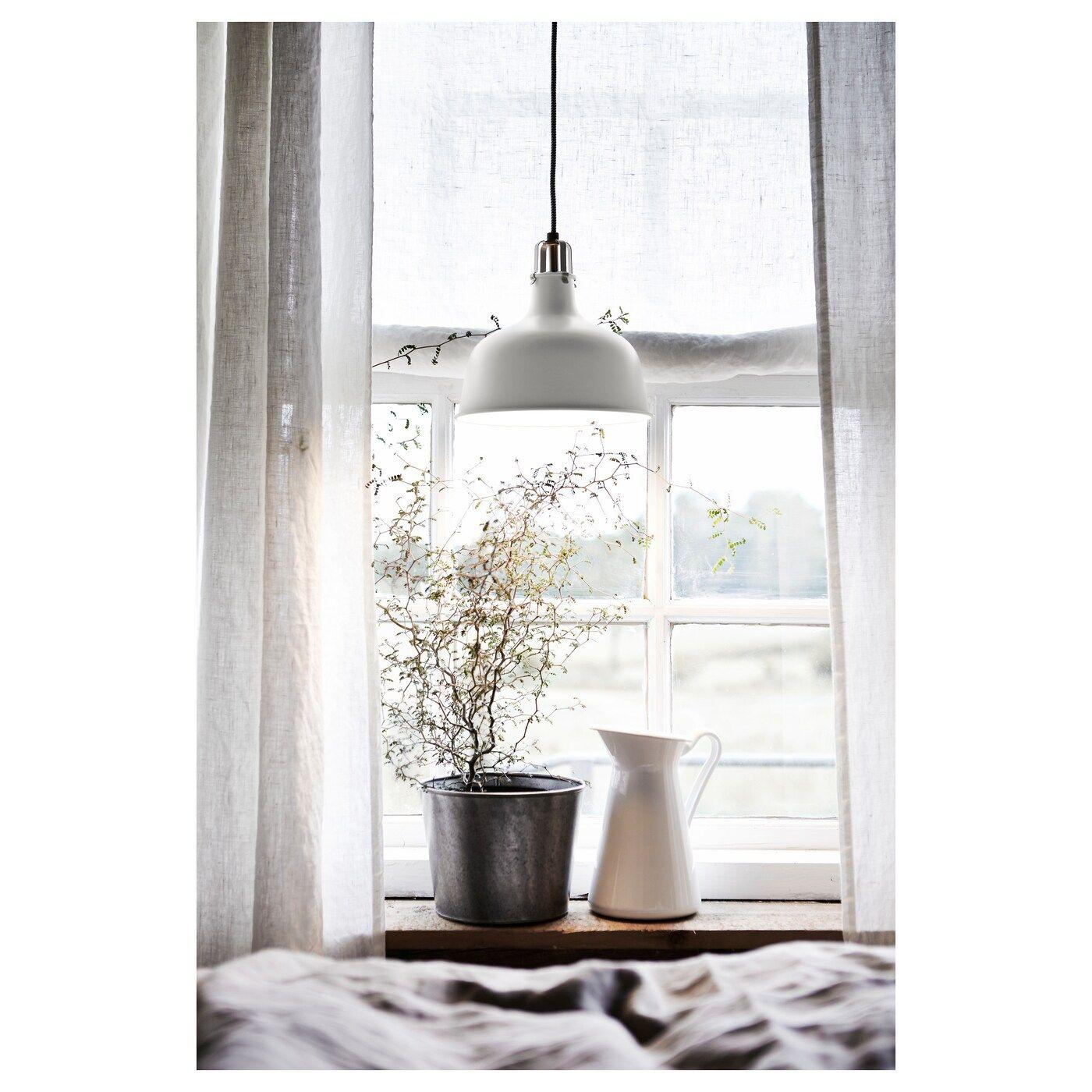 IKEA RANARP Pendant lamp offwhite 白いカーテン、インテリア、インテリア雑貨