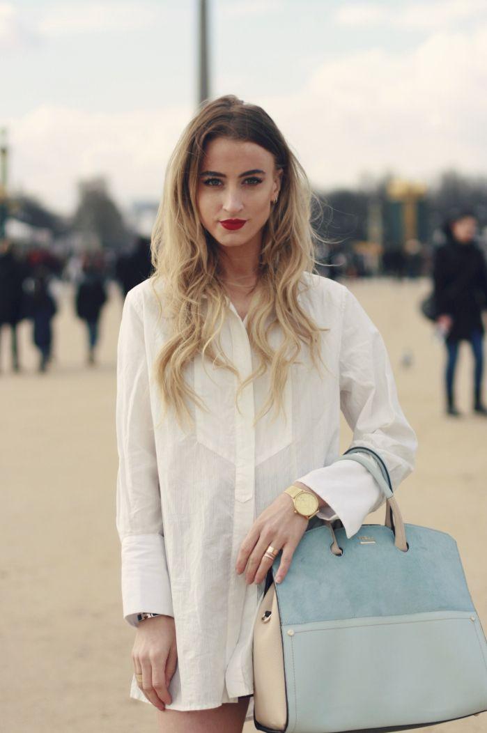 Bag With Oversized Light White ShirtVestidos Furla A Blue IW92EDH