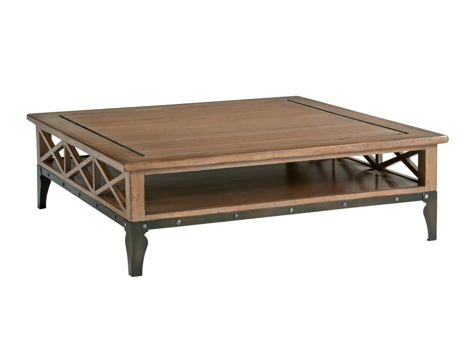 Square cherry wood coffee table ARCHITECTE