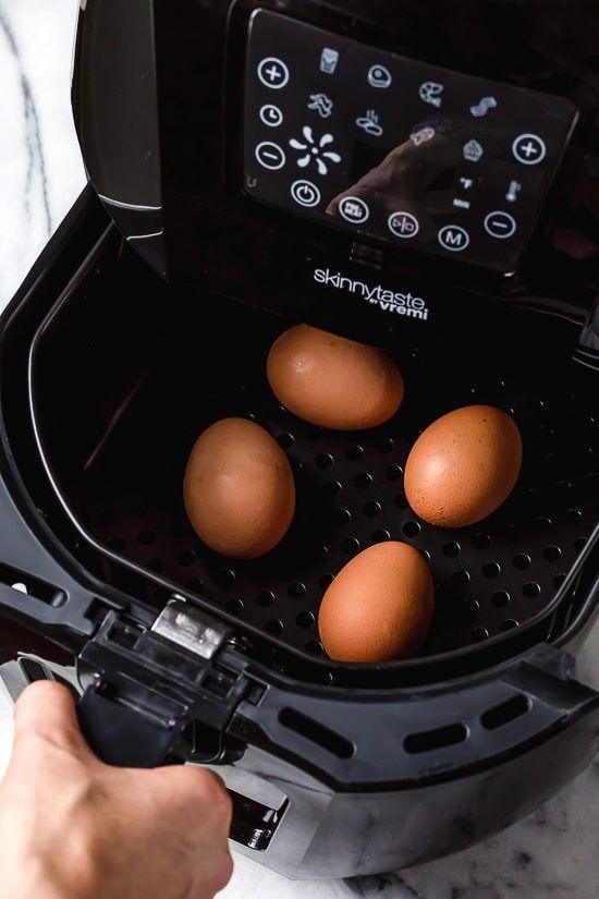 Air Fryer Hard Boiled Eggs – 1 Ingredient, NO Water!