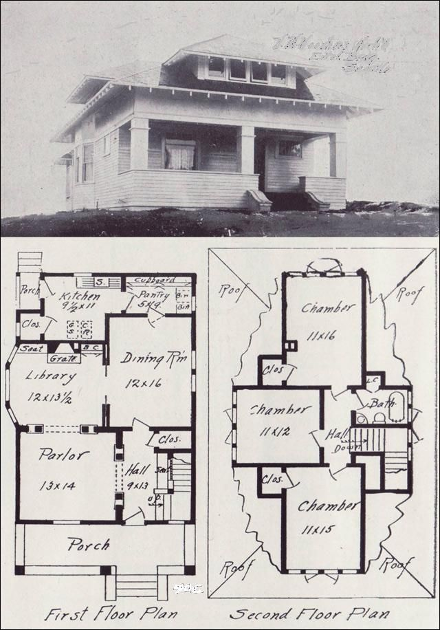 Early 1900 S House Floor Plans House Design Plans