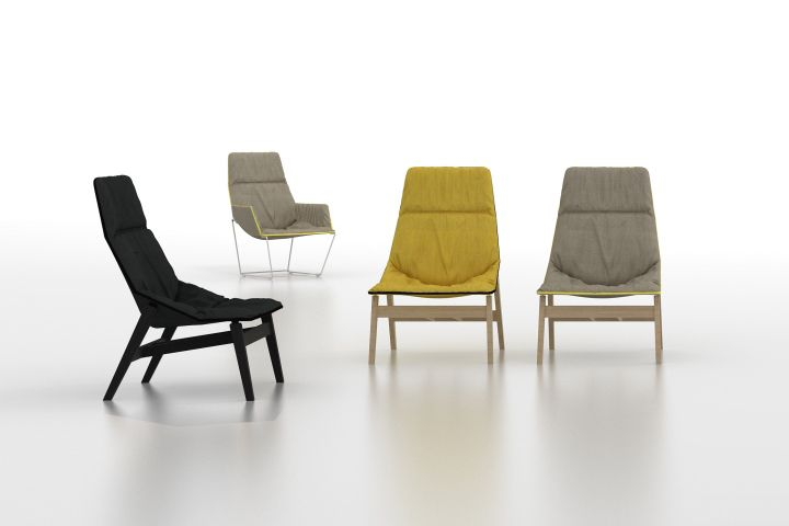 Деревянный стул ACE WOOD от дизайнера Jean-Marie Massaud для компании Viccarbe