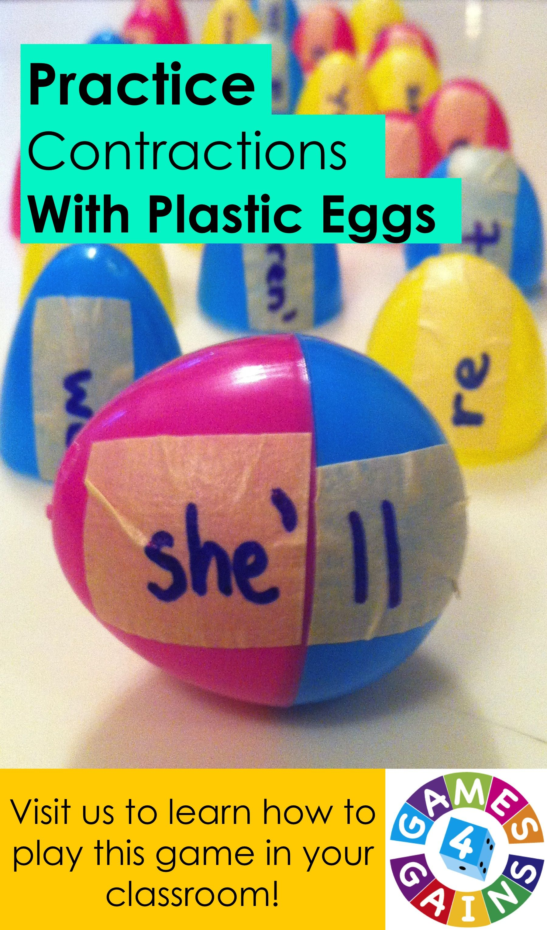 An Eggs Cellent Way To Practice Contractions