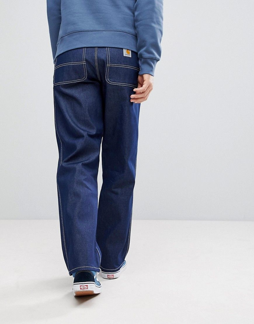 9ed3adef90f Carhartt WIP Simple Pant In Relaxed Straight Fit - Blue | Products ...
