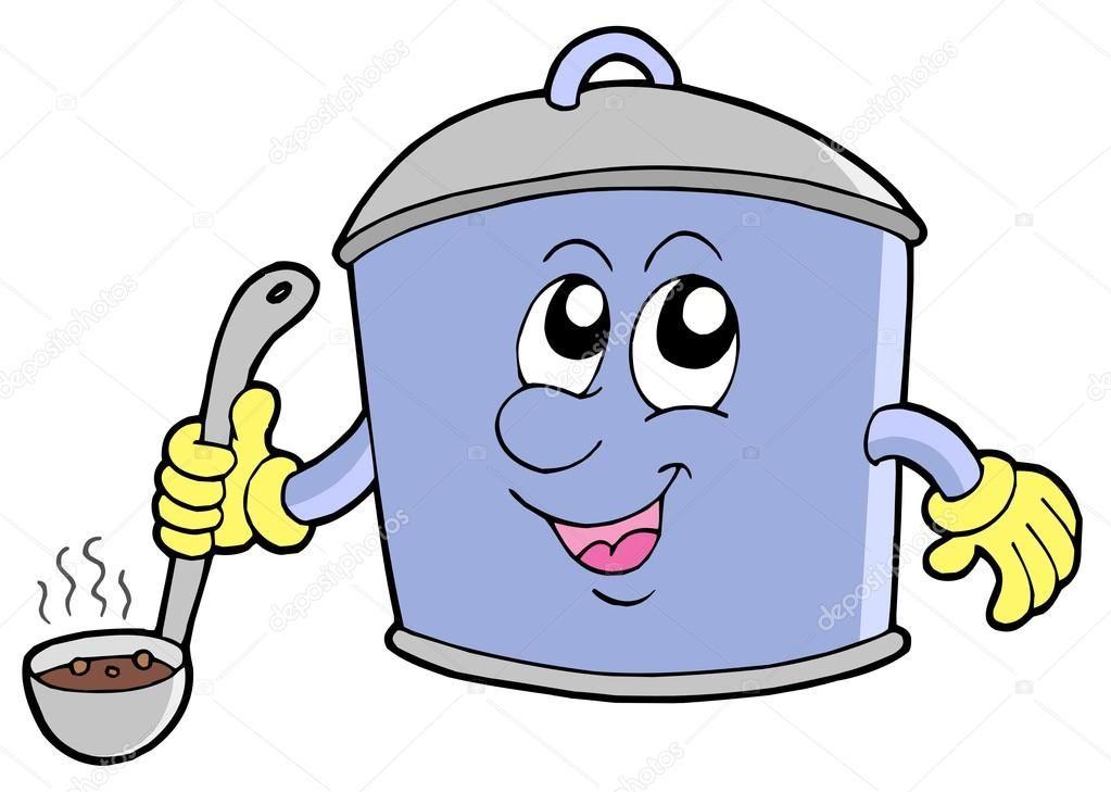 Cocina Olla De Dibujos Animados Ilustracion De Stock 2147870
