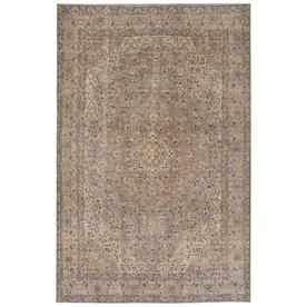 Kaleen Boho Patio Taupe Rectangular Indoor Outdoor Machine Made Vintage Area Rug Common 8 X 10 Actual 8 Ft W Vintage Area Rugs Kaleen