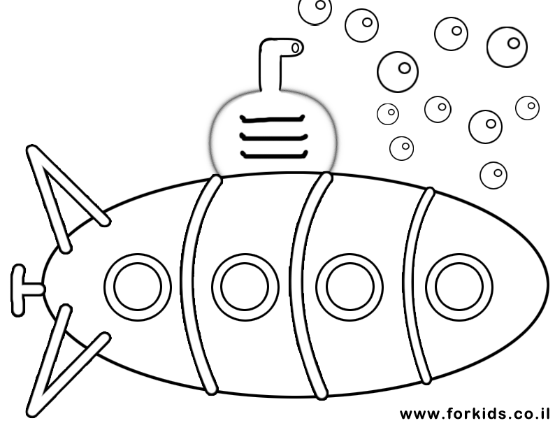 Coloring Page Of Simple Submarine Coloring Pages Kindergarten Coloring Pages Submarine Craft