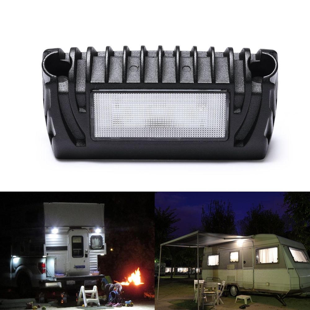 Mictuning New Rv Exterior Led Porch Utility Light 12v 750 Lumen Awning Lights Replacement Lighting For Rvs Trailers Campers Rv Exterior Awning Lights Porch Lighting
