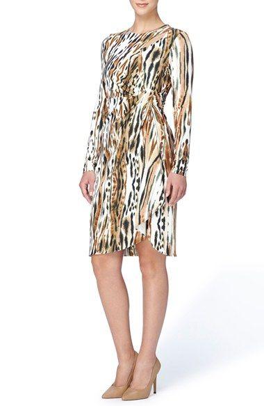 88478967c8d Free shipping and returns on Catherine Catherine Malandrino  Gordon  Print  Faux Wrap Jersey Dress