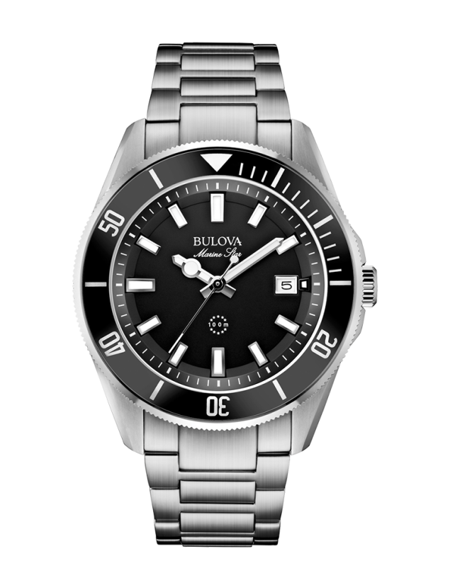 Instock 30 off bulova marine star 98b203 retail price 299 sale price for Retail price watches