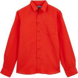 Photo of Uomo pronto a indossare – Camicia per uomo in lino tinta unita – Camicia – Caroubis – Rosso – M – Vilebrequin Vi
