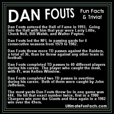 #DanFouts #SanDiegoChargers #SanDiego #Chargers #Bolts #NFL #trivia #Football #FunFacts #UltimateFunFacts