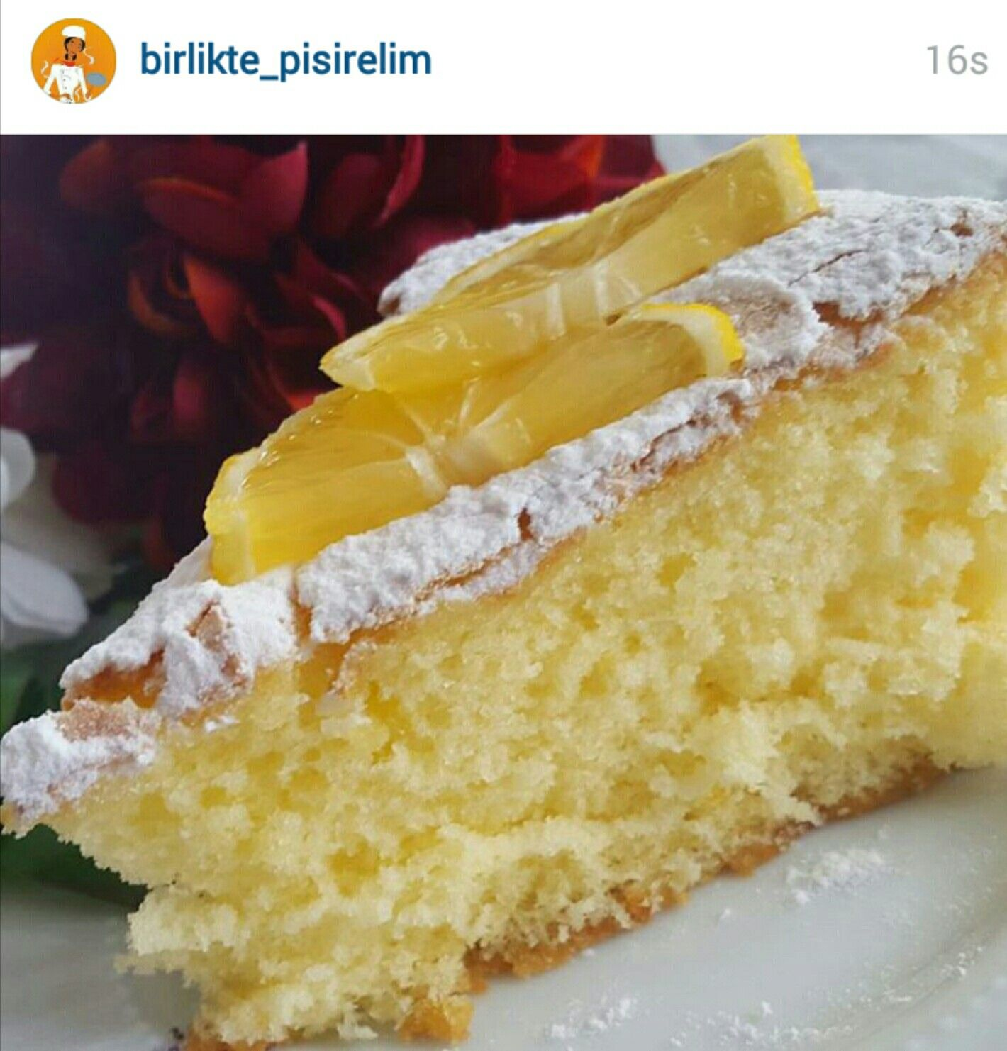 Limonlu Nişastalı Kek