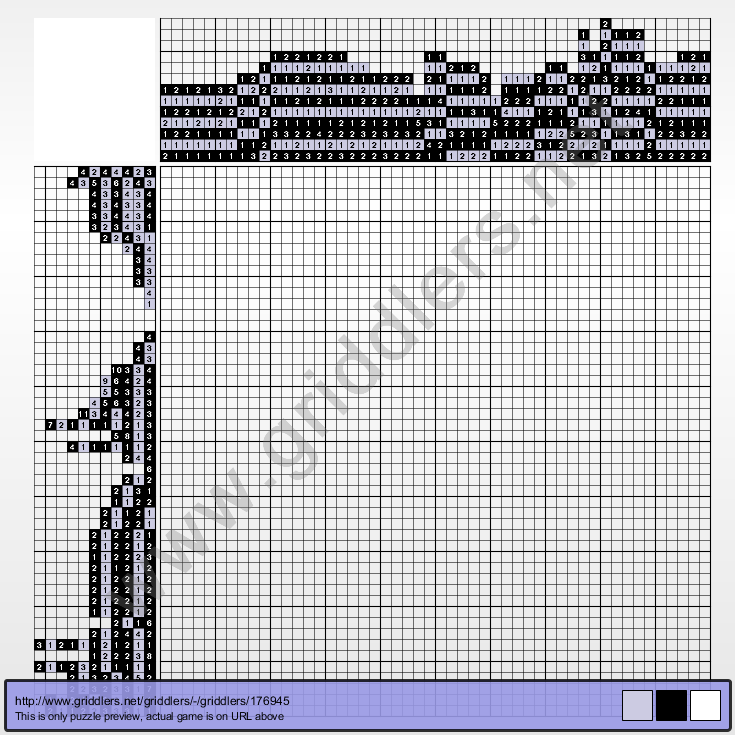 Griddlers Puzzle 176945 Rib Vault in Teltsch (Czech Republic)