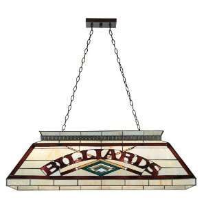 Burgundy And Cream Tiffany Style Pool Table Light Home Improvement