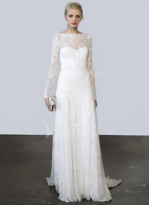 Brautkleider - $203.17 - A-Linie/Princess-Linie U-Ausschnitt Sweep ...