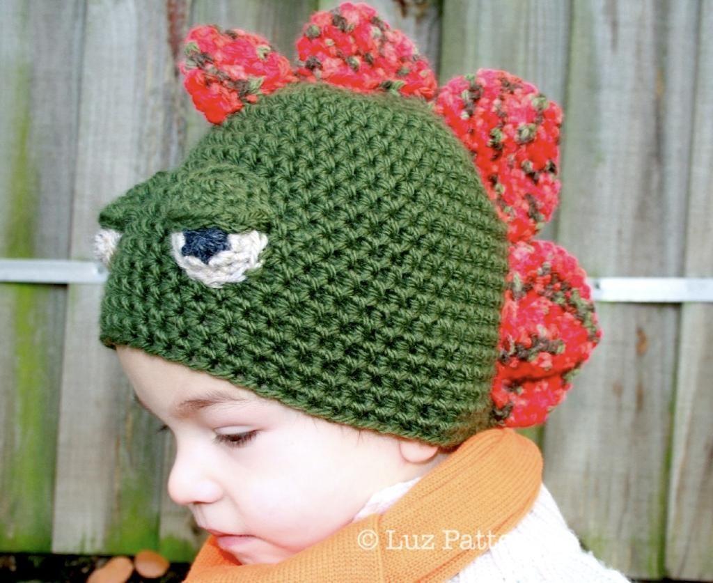 Crochet dinosaur hat pattern (29) | Crochet dinosaur hat, Crochet ...