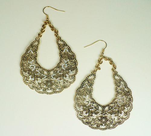 T's Accessories - Filigree Statement Hoop Earrings, $34.99 (http://www.tsaccessories.com/filigree-statement-hoop-earrings/)